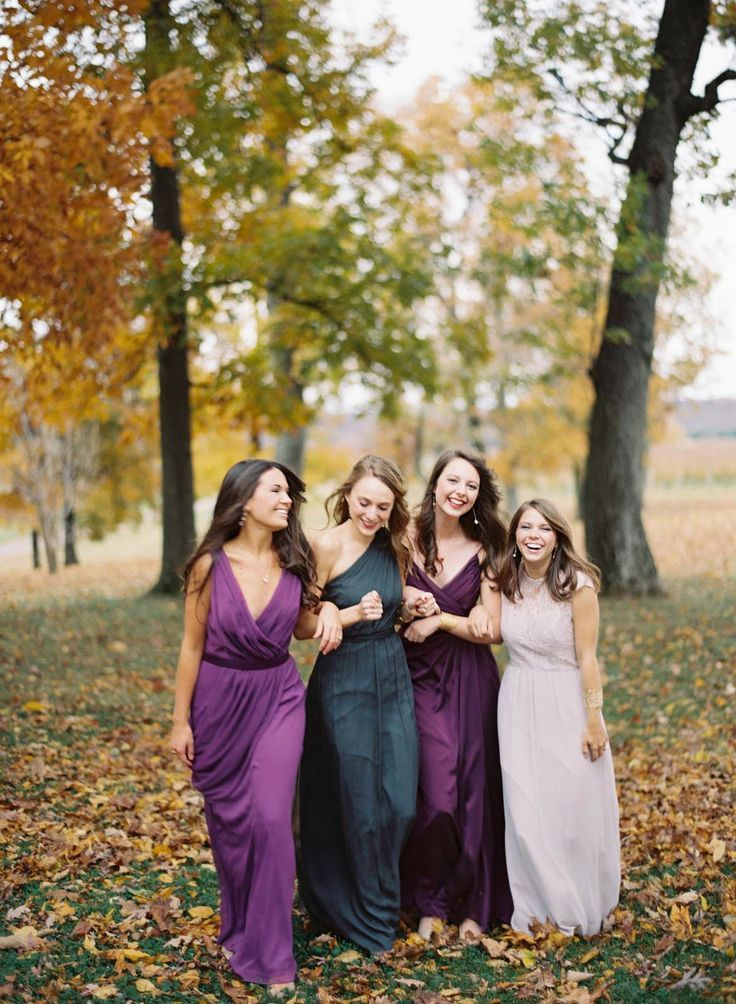 Beautiful Bridesmaids Dresses For Autumn | Photography: Elisa Bricker - elisabricker.com: