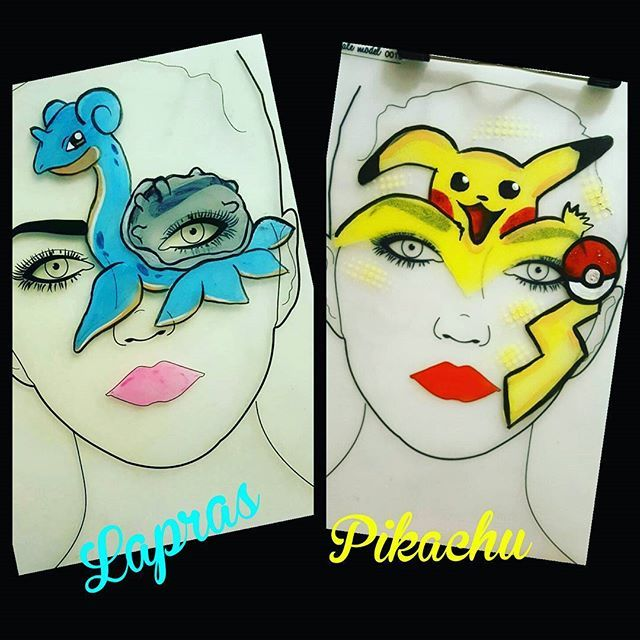 ❤ Inspired by @olgasfacebodyart #facepaint #facepainter #pokemongo #pikachu I wanted to paint #lapras on my own. #notbad…