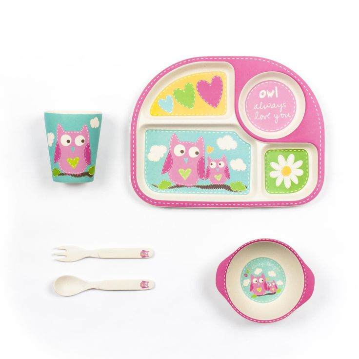 Owl Square Dinner Set (5pcs)