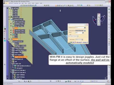 CATIA V5 - Functional Molded Part modeling - YouTube