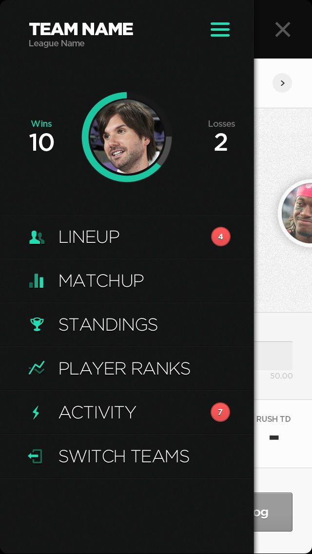 Team Player #Statistics #UI | #design #sports #ux #mobile #flat #minimal #metroesque #metro #inspiration