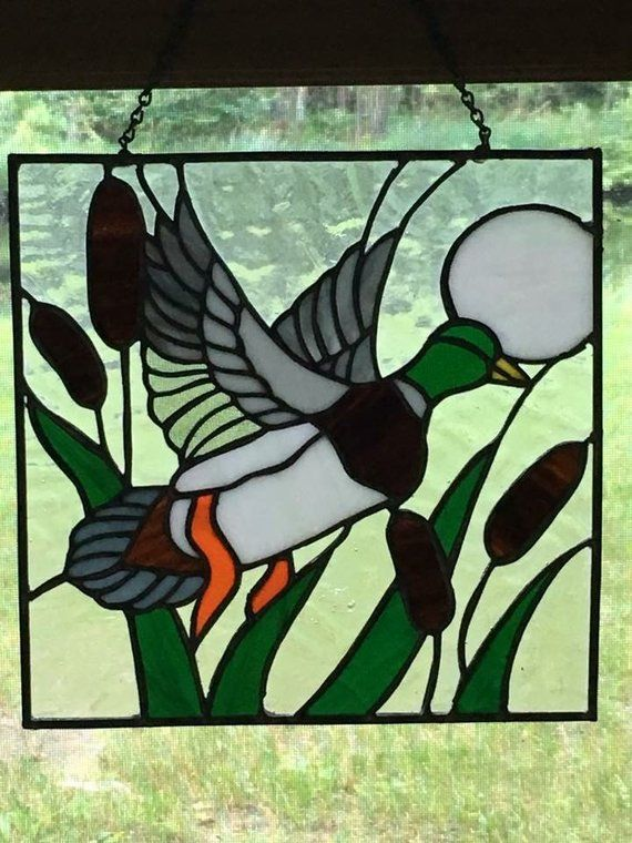This Is A Mallard Duck Stained Glass Perfect For The Hunter Or The Person Who Just Loves Nature This Pi Stained Glass Birds Stained Glass Gifts Stained Glass