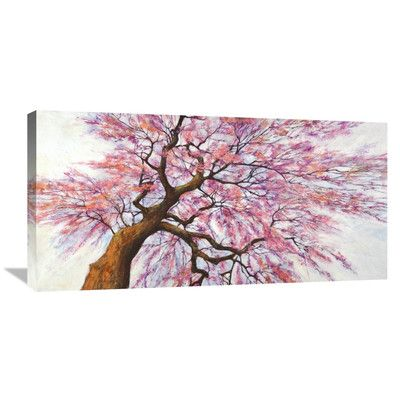 "Global Gallery 'Sotto L'albero in Fiore' by Silvia Mei Painting Print on Wrapped Canvas Size: 18"" H x 36"" W x 1.5"" D"