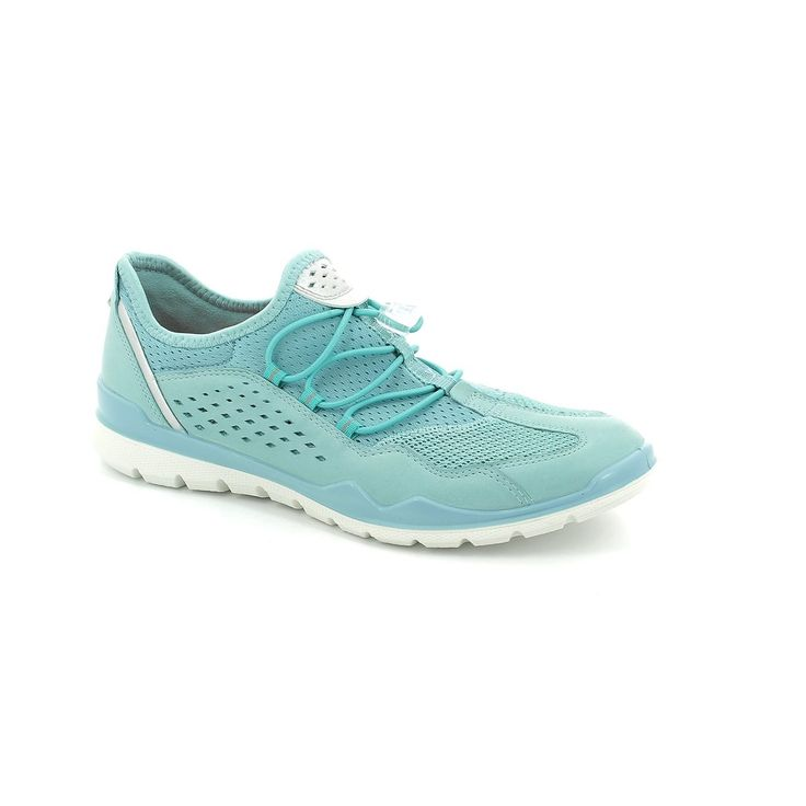Get your ladies ecco trainers online now at Begg Shoes and Bags. Bright blue sneakers: www.beggshoes.com  #flexappeal #skechers #sneakers #trainers #memoryfoam