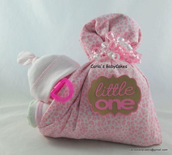 Stork Bundle Baby Baby Luier Cake Unieke Baby Cadeau Roze