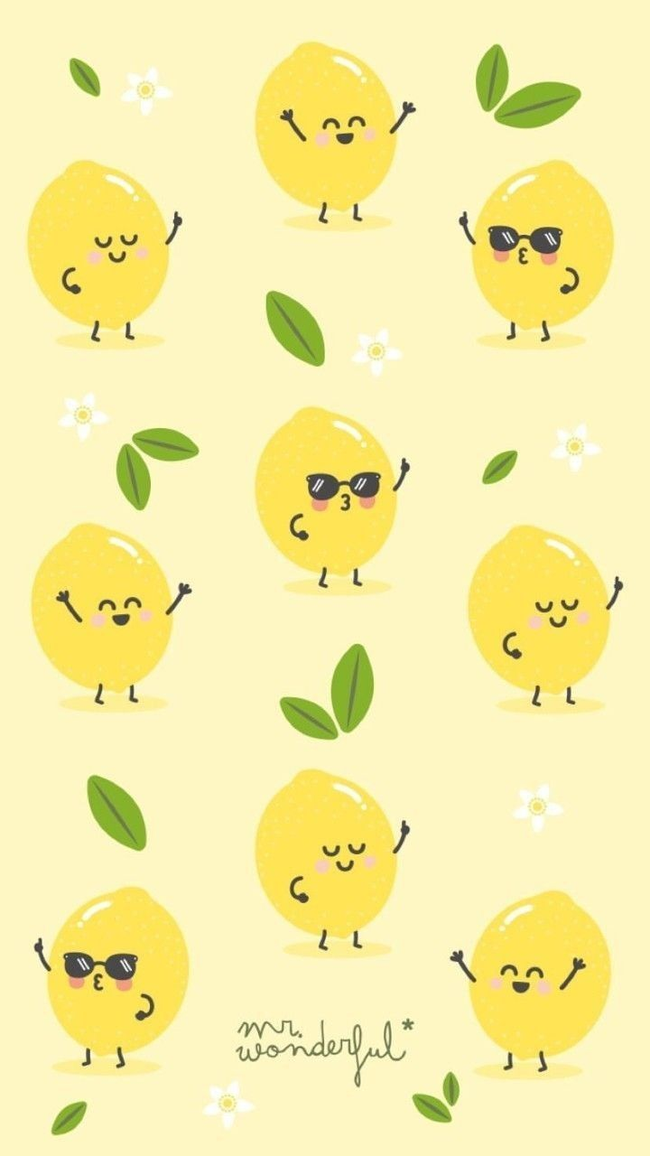 Lemon Wallpaper Lemon Wallpaper  https://wallpaperpinterest.com/lemon-wallpaper.html   Cute screen savers,  Computer wallpaper pattern, Kawaii wallpaper