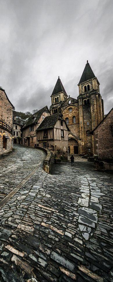 Conques, Midi-Pyrénées, France                              …