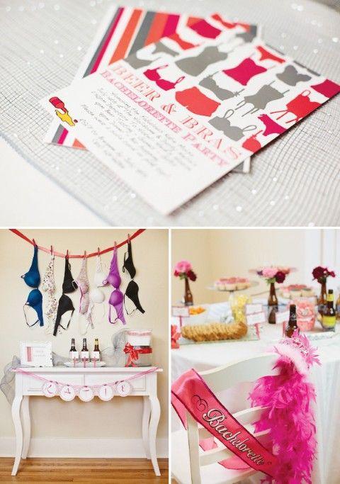 Inspiração: decoração de chá de lingerie