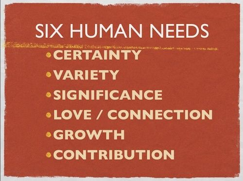 These are so important!  ♥ Tony Robbins about the 6 human needs ;http://youtu.be/tpW-NWs0ilI