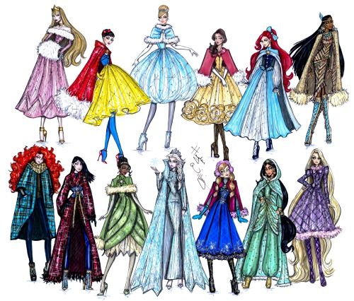 Disney Divas 'Holiday' collection by Hayden Williams