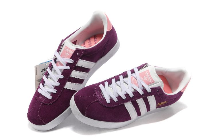 Womens Adidas Gazelle Og Trainers Purple