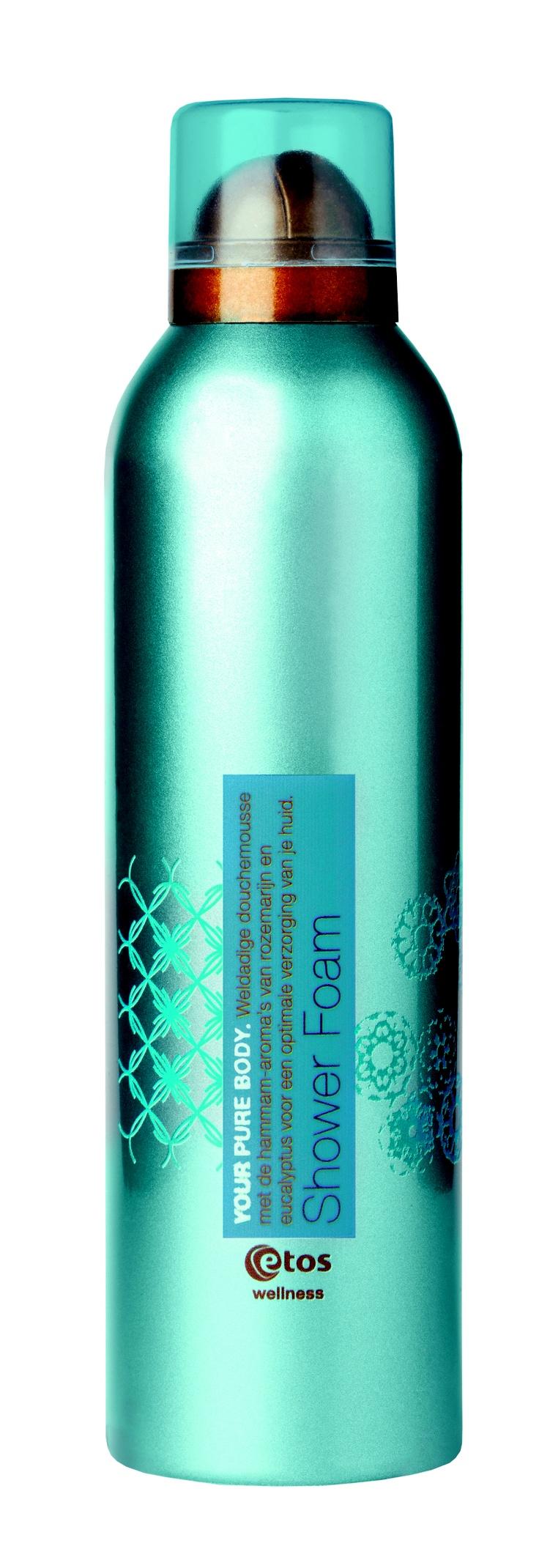 Weldadige douchemousse met de hammam-aroma's van rozemarijn en eucalyptus voor een optimale verzorging van je huid. Etos Wellness Your Pure Body Shower Foam, 200 ml - € 4.99