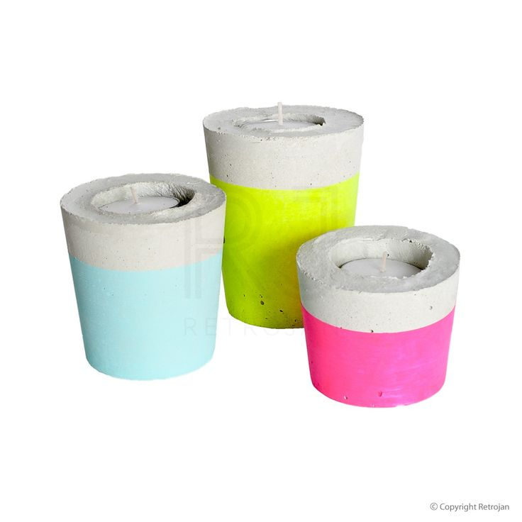 Candle Trios - Neon Yellow, Neon Pink, Mint | $54.95