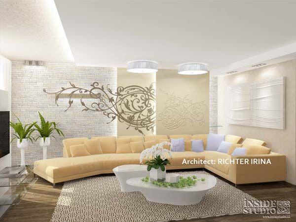 Дизайн проект интерьера гостиной. Архитектор Рихтер Ирина http://www.insidestudio.ru/#!flat-243/c1uxi