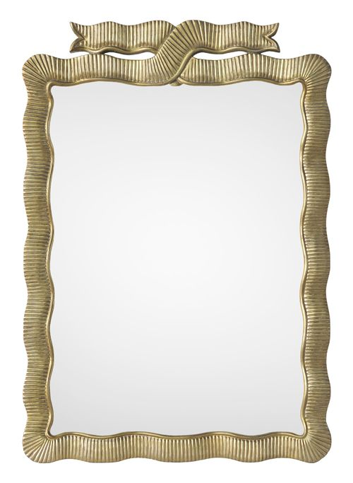 Gorgeous Gold Ribbon Mirror. Free Shipping!