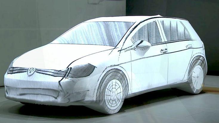 Introductie VW Golf 7 - Deze 3D mapping op de golf brengt deze tot 'leven' en geeft tijd dat de VW Golf mee gaat weer op een visuele manier. Op het einde wordt de nieuwe Golf gepresenteerd als de toekomst. Hierbij speelt het visuele design een grote rol samen met de storytelling.