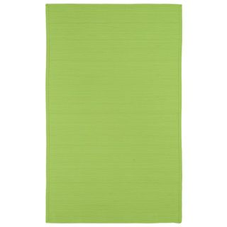 Shop for Indoor/ Outdoor Malibu Woven Lime Green Rug (8' x 11'). Get free…