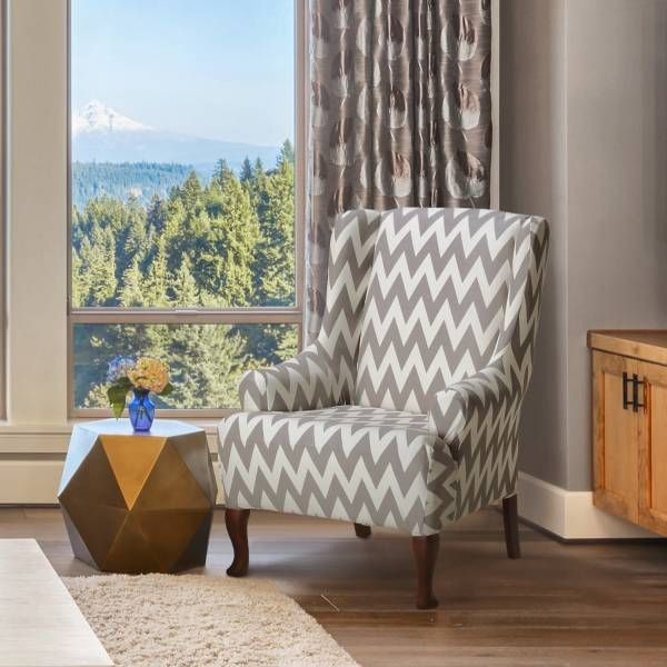 Revamp Your Home Décor With The FurnitureSkins Dakota Wingback Chair Cover.  The Stretch Polyester Fabric Will Fit Most Wing Chairs.