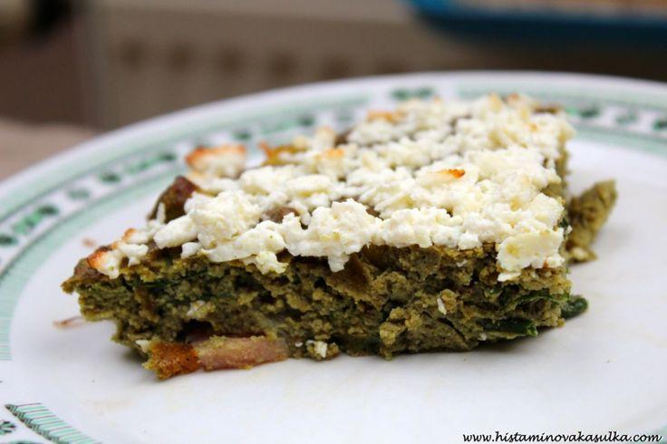 Cibulkový koláč z dýňové mouky aneb ať se nám zelení!