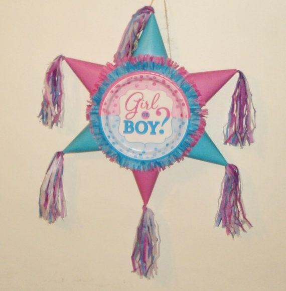 Gender Reveal Pinata. Star shaped Pinata