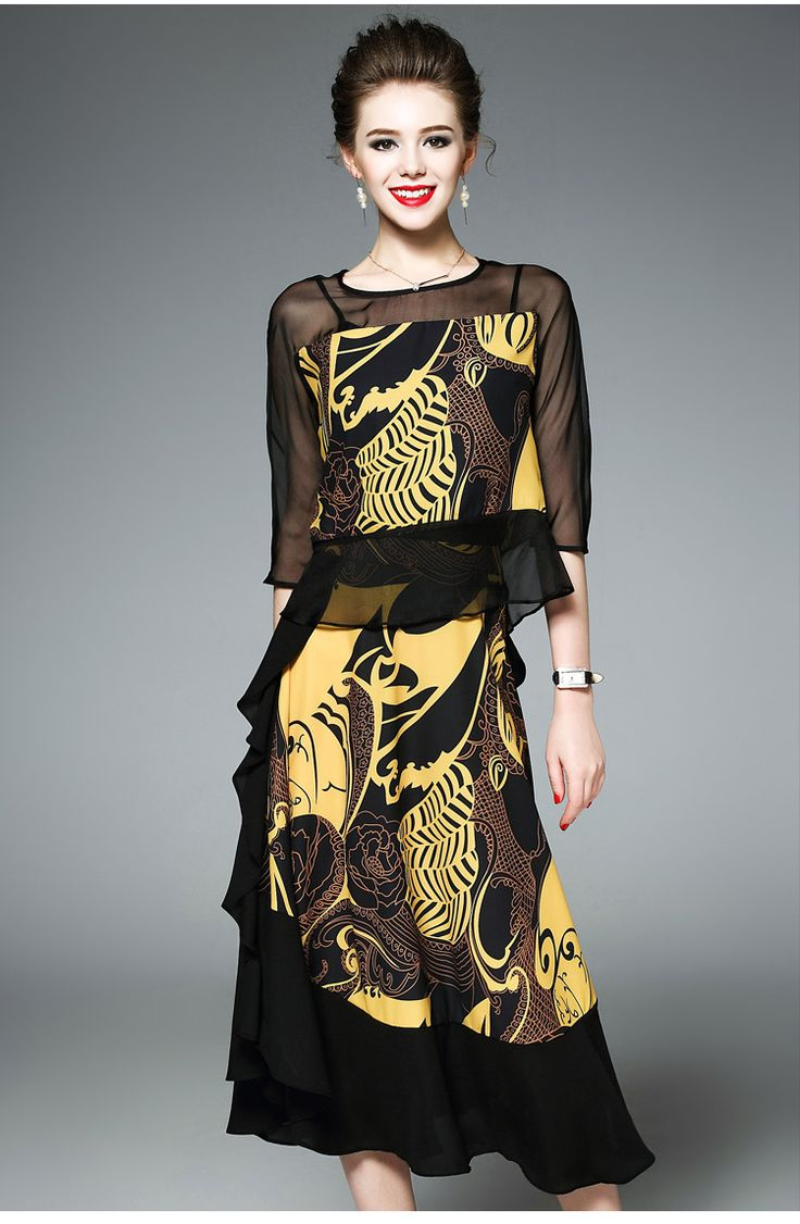Women's Daily Contemporary Summer Blouse Skirt Suits,Print Round Neck Half-Sleeve