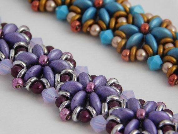 Bead, Daisy Bracelet, Tutorial, Instructions, Pattern, Jewelry, Beadweaving, 2…