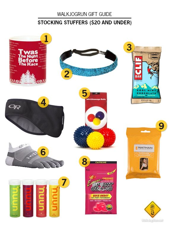 Gifts for runners: stocking stuffers (all $20 or less)