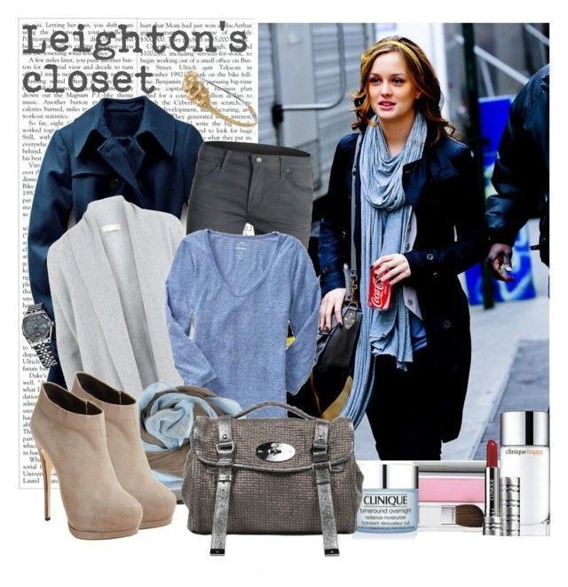 Extras - Leighton Meester by thegossiplook on Polyvore featuring polyvore, mode, style, Old Navy, MICHAEL Michael Kors, Victoria's Secret, Citizens of Humanity, Giuseppe Zanotti, Mulberry, Deepa Gurnani, Clinique, Rolex, leighton meester, gossip girl, street style and blair waldorf