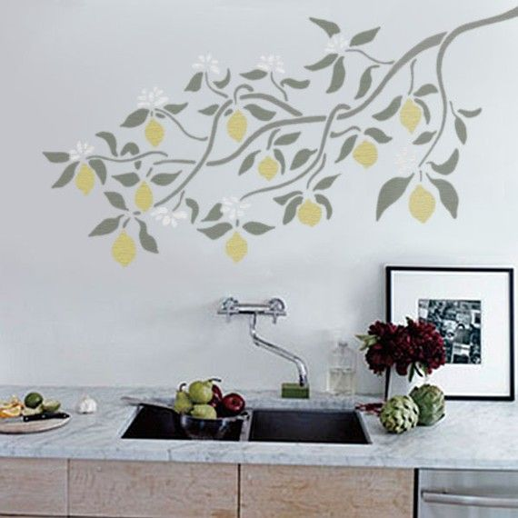 213 best lemon theme kitchen images on pinterest lemon for Kitchen themed wall art