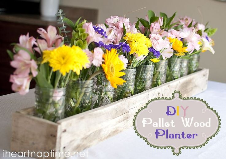 DIY Pallet Wood Planter by Blooming Homestead featured on iheartnaptime.com!