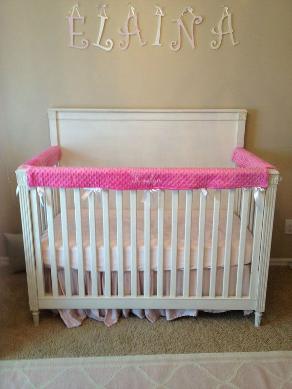 embroidered crib rail cover crib wrap set by on etsy all custom made