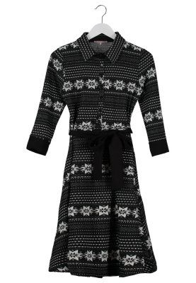 Strikket kjole - anthrazit