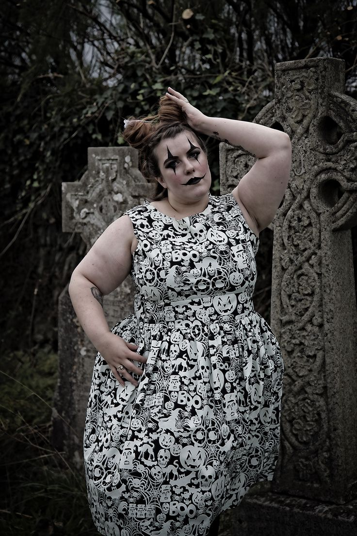 Dress by Silly Old Sea Dog: http://sillyoldseadog.com/product/1950s-style-glow-dark-halloween-dress/  Photographer: http://www.houseofpinup.co.uk/  Make Up: Francine Owens  Hair: Hair by Emma  Model: Bye Bye Bailey