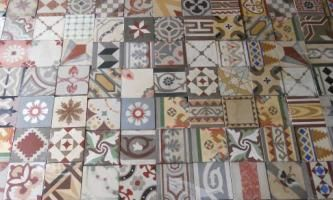 Reclaimed Tile Company patchwork floor - downstairs loo?