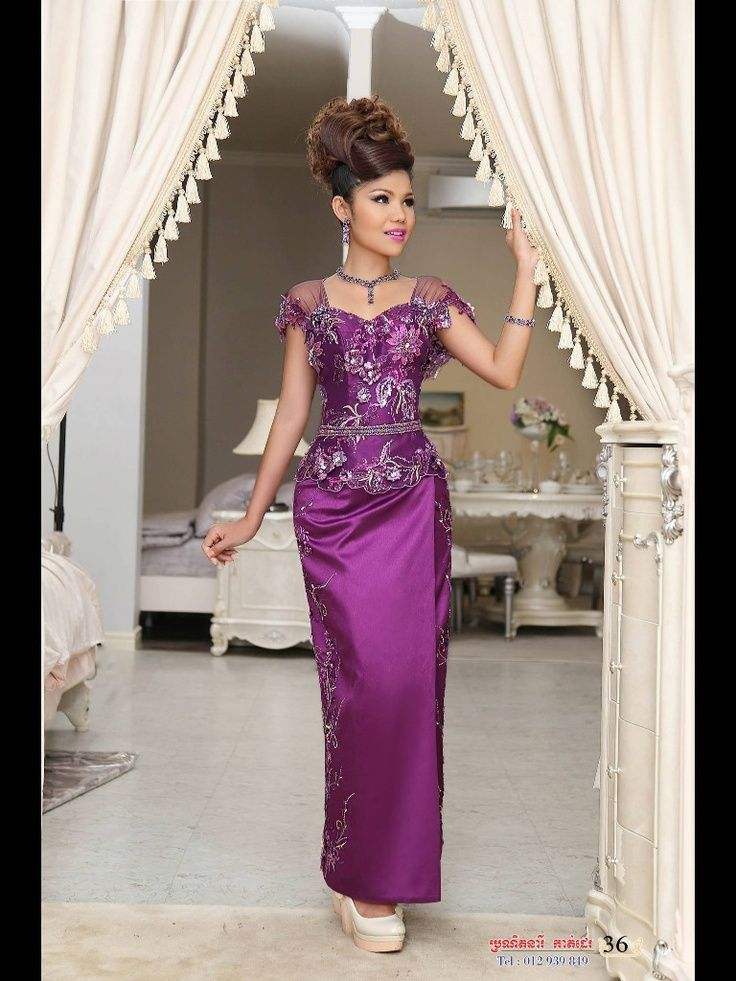104 best khmer traditional clothing images on pinterest for Khmer dress for wedding party