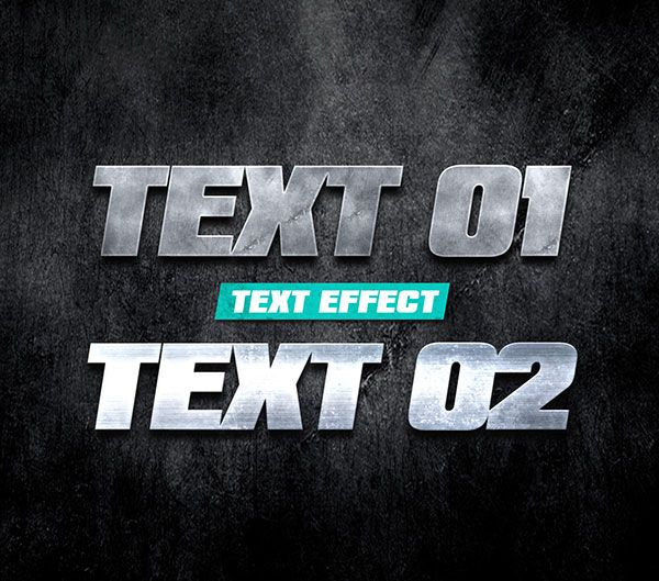 Metal Text Effect Free PSD