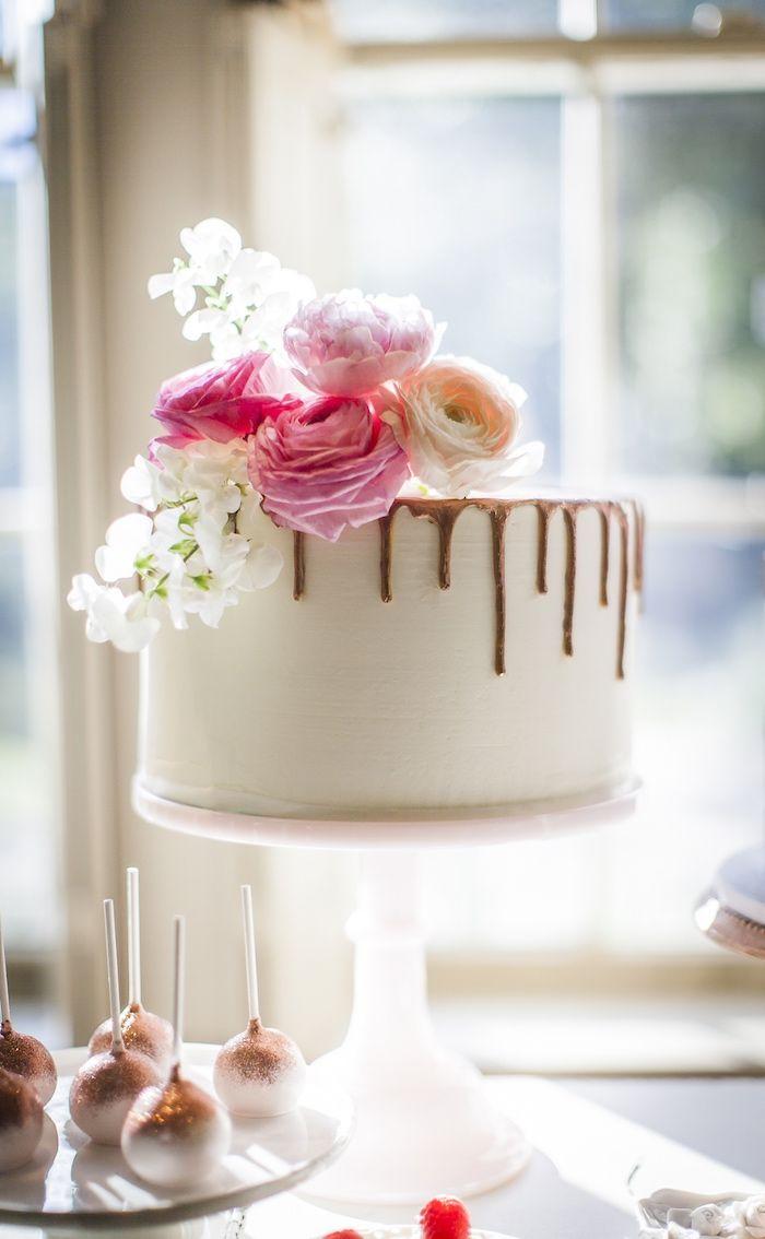 Secret Garden: Drip Cake From A Secret Garden Baby Shower On Kara's Party
