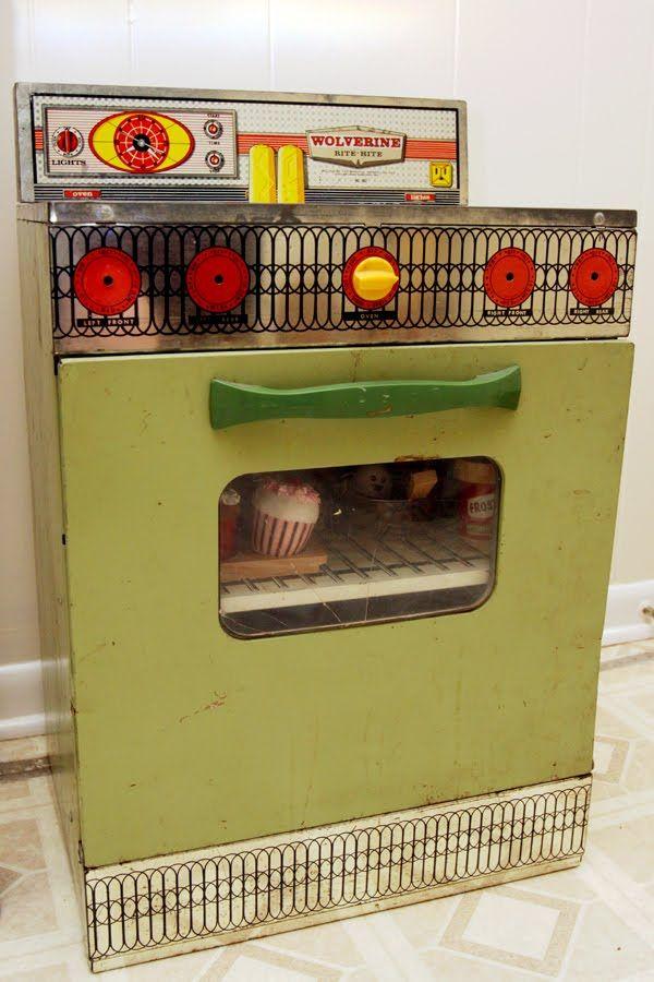 metal toy stove