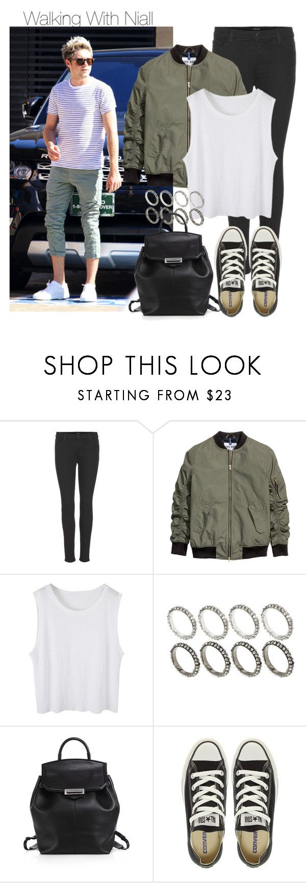 """""""Walking With Niall"""" by onedirectiondress ❤ liked on Polyvore featuring J Brand, ASOS, Alexander Wang and Converse"""