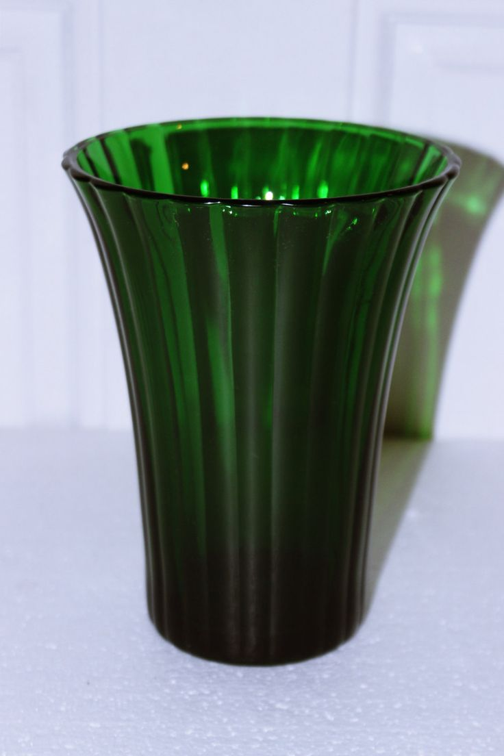 187 best gorgeous glass images on pinterest closets vanity and vintage dark green glass vase napco made in cleveland ohio usa ribbed design lovely centerpiece reviewsmspy