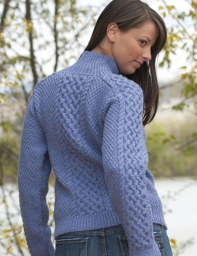 Traditional Aran Pullover in Cascade 220 - Digital Version ...