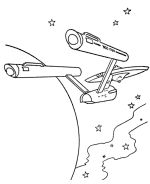 Star Trek Coloring Page Sheets - Free Printable TV and Movie Coloring Pages - Starship Enterprise | BlueBonkers.  Yay!