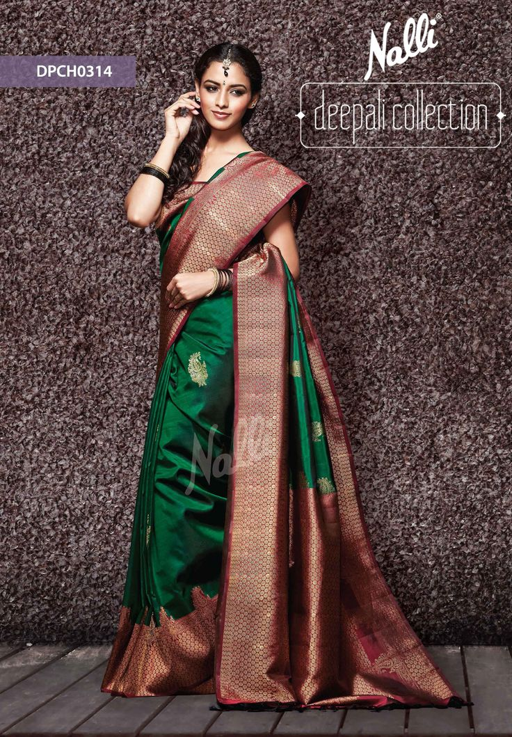 stunning, the always in green and maroon, Nalli Kanjivaram Saree