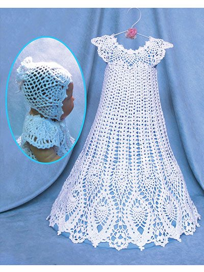 Free Knitting Pattern Baby Christening Gown : 98 best images about Crochet clothes - baby/kid on Pinterest Free pattern, ...
