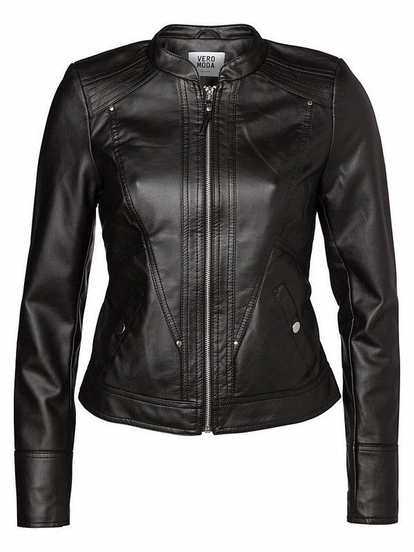 Hibiscus Jacket   27 Boutique Vero Moda's vegan faux leather Hibiscus Jacket. This jacket features a gorgeous tailored back and fits beautifully!