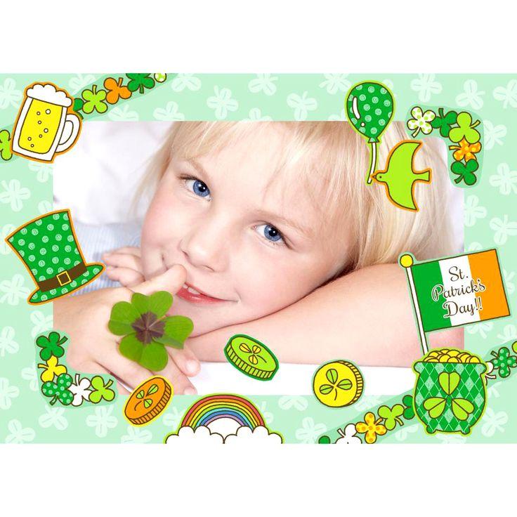簡単無料ダウンロード✨3月17日の セントパトリックデー🍀 はグリーンの物を身につけて楽しく盛り上がれる1日(*´∨`*)🎶 スクラップキット➡️https://goo.gl/1k4vwG で記念の写真を飾ろう!贈ろう!スクエアサイズ・L版サイズ・KGサイズ選べます😆  #StPatrick #緑 #セントパトリックデー #グリーン #スクラップブック #フォトフレーム #ハンドメイド