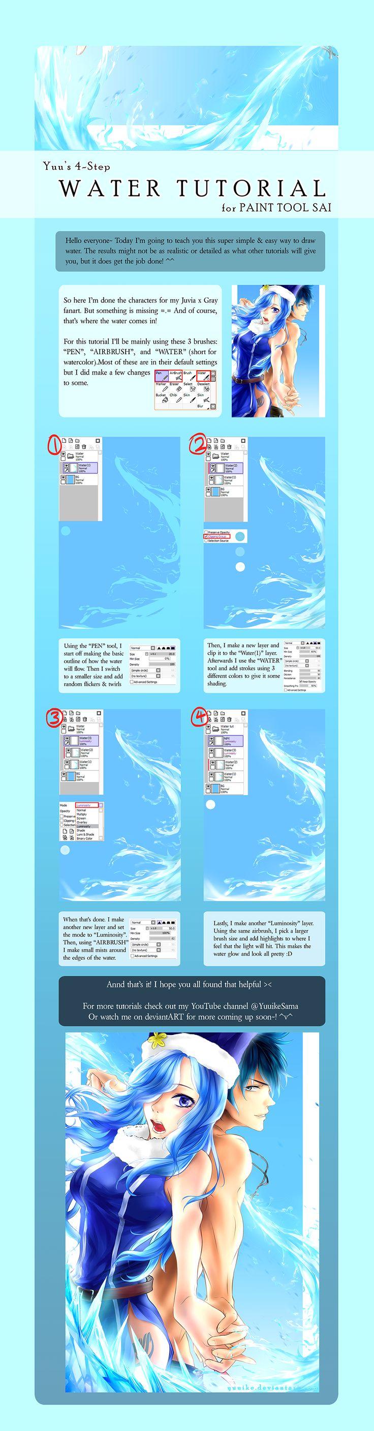 4-step Water Tutorial by yuuike.deviantart.com on @DeviantArt