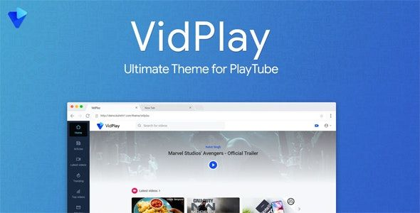 Vidplay V1 4 The Ultimate Playtube Theme Opensource Linux Software Programming Coding Null88 Web Design Design Theme