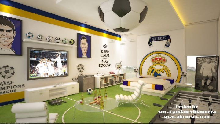 Real Madrid... This would be my husbands dream room!