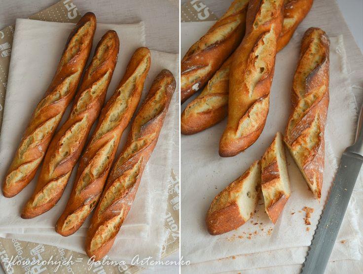 Приготовление французских багетов в духовке, рецепт с пошаговыми фотографиями; аутолиз теста, техника растянуть-сложить (stretch and fold) при выпечке хлеба